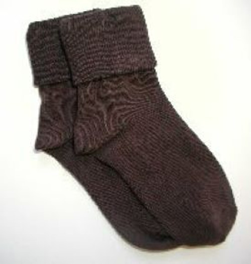 Girls or boys socks brown