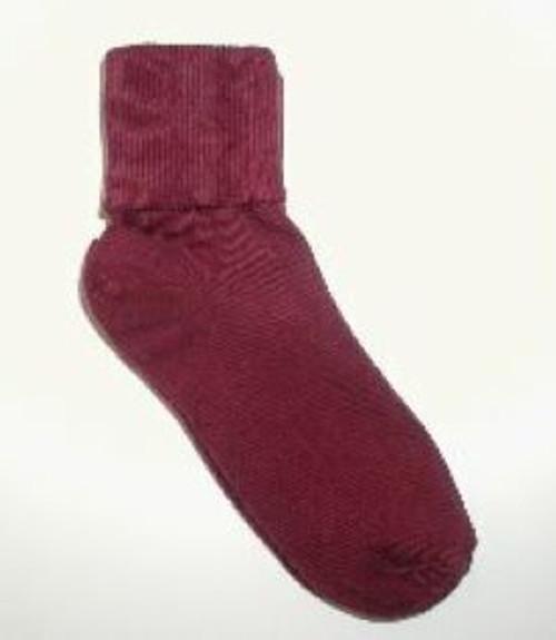 kid socks burgundy or cranberry