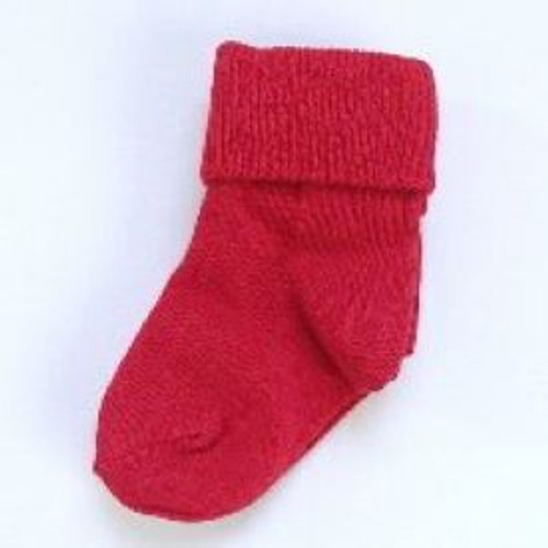 Infant socks red
