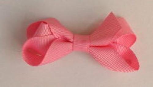 Girls hair bow peach