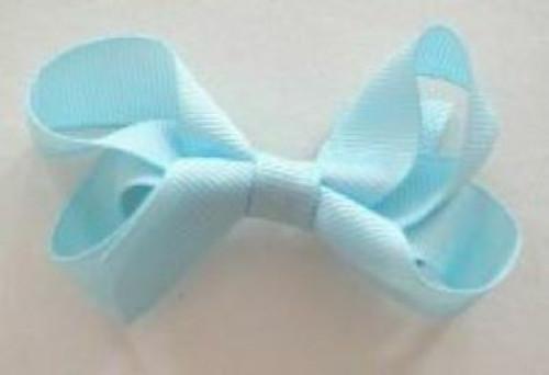 Girls hair bow blue aqua