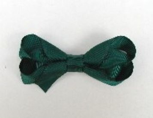 Hunter green hair bow