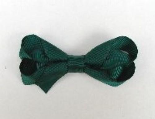 girls hair bow hunter green