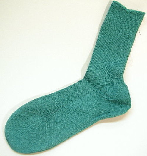 Children's Teal Banded Top Cotton Sock