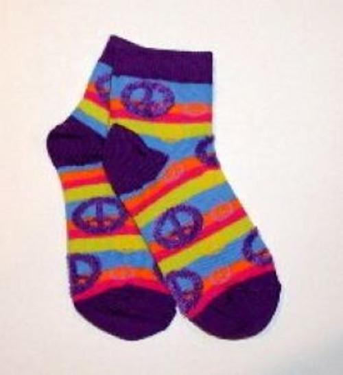 Purple striped chilren's socks
