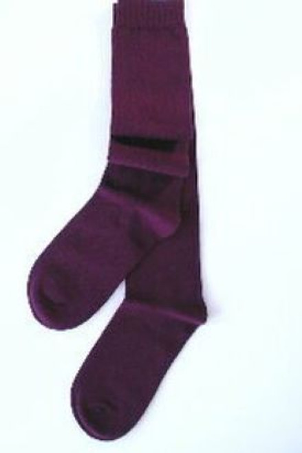 Girls knee socks burgundy maroon for school uniform
