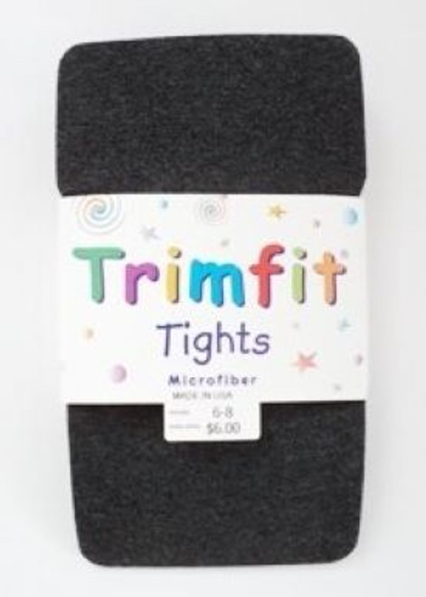 Girls tights charcoal gray microfiber