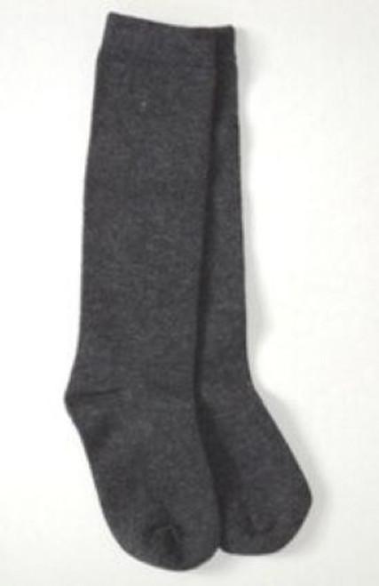 girls knee socks gray flat knit