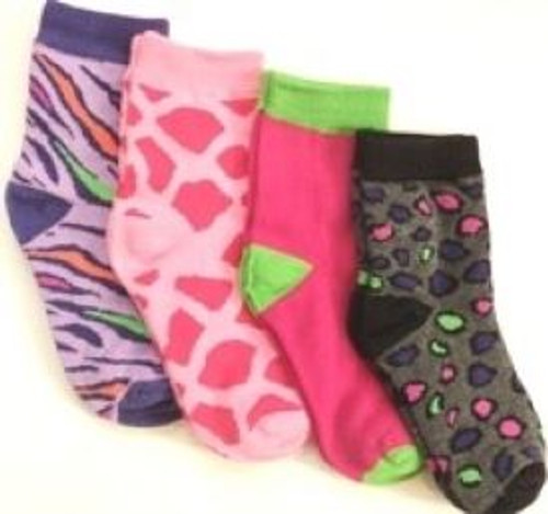Girls print socks 4 pack