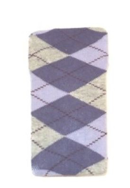 Girls tights purple argyle print