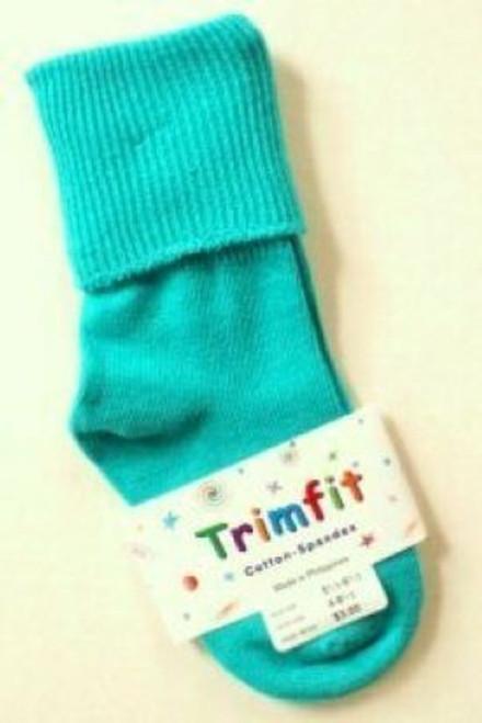 Socks for children teal green