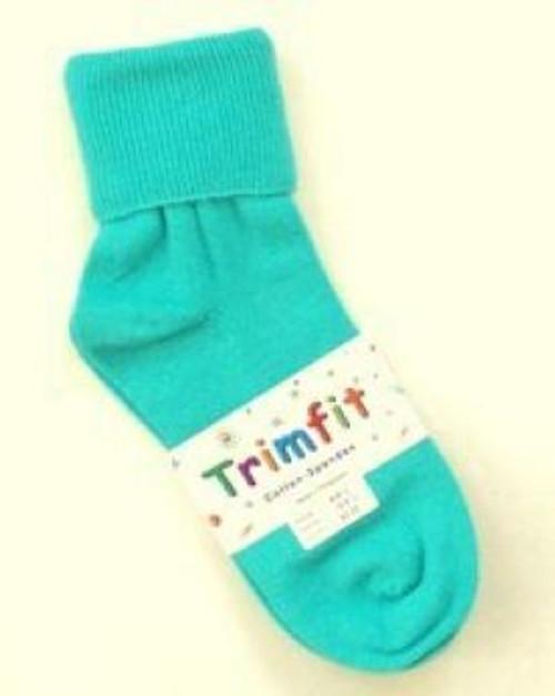 Children's socks teal green