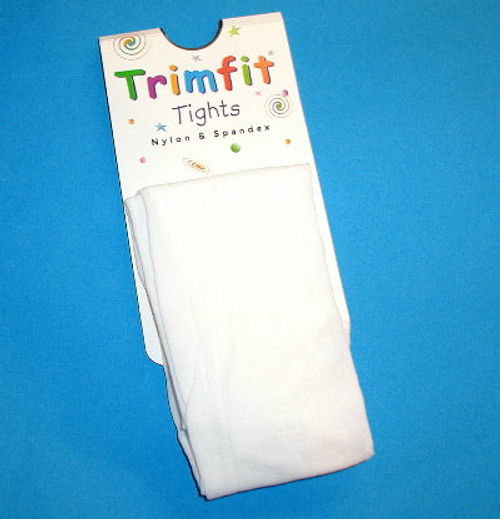 Infant tights white