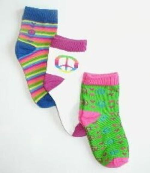 Bright children's socks peace sign