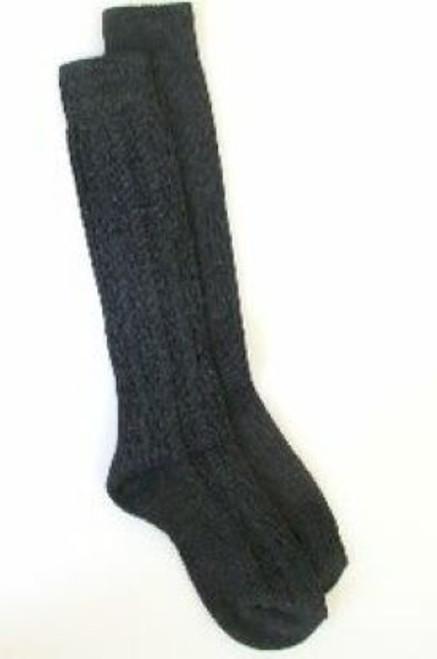 Gray girls knee socks