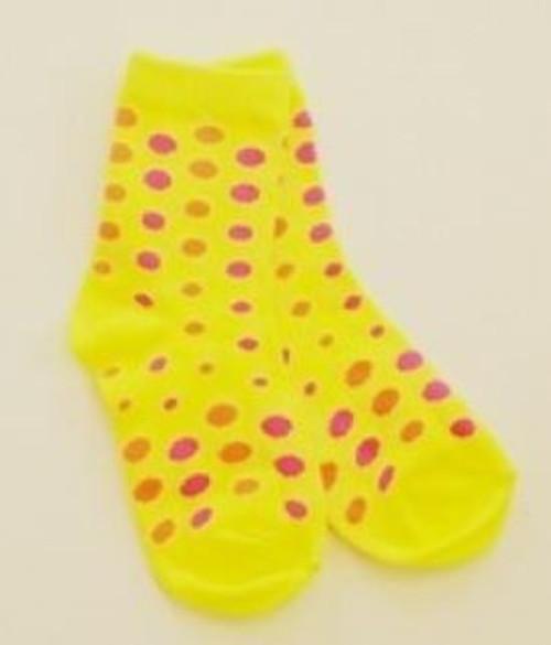 Yellow print socks