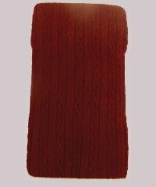 Girls tights cable knit burgundy maroon
