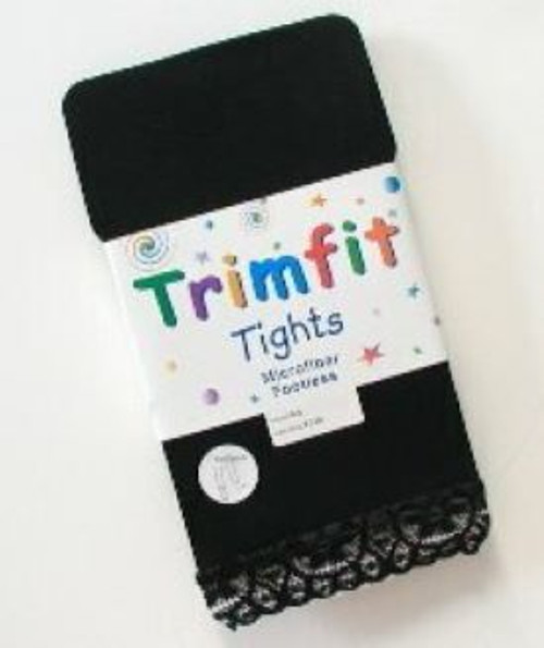 Footless tights for girls black Trimfit