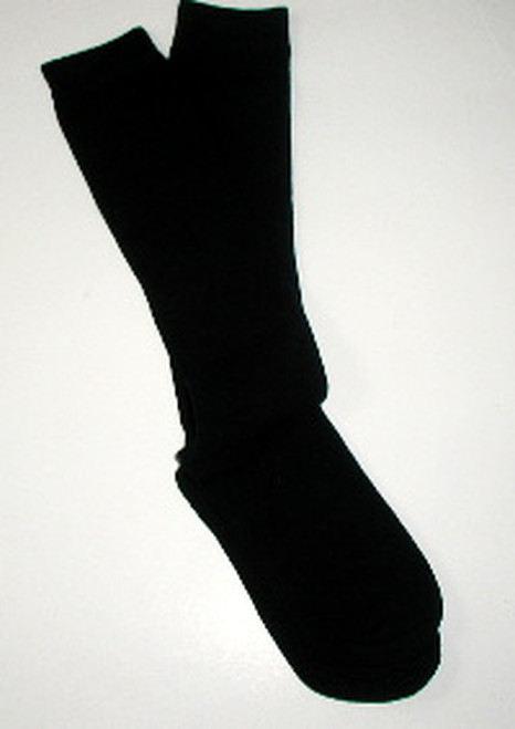 Black flat knit girls knee socks
