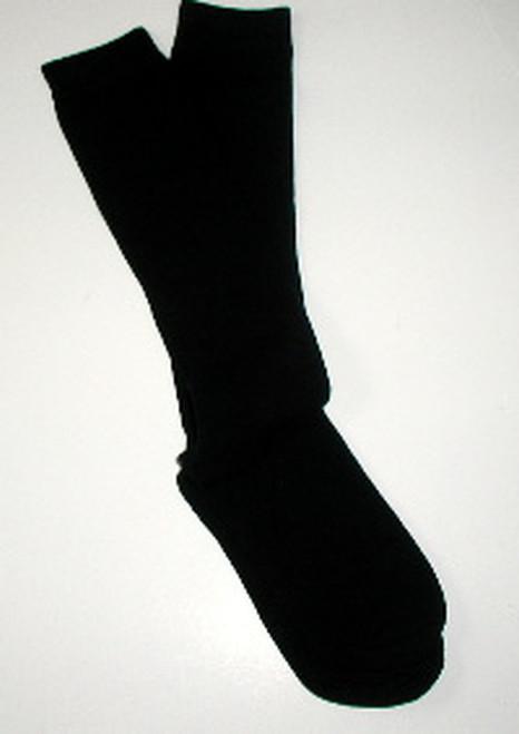 Black flat knit girls knee socks