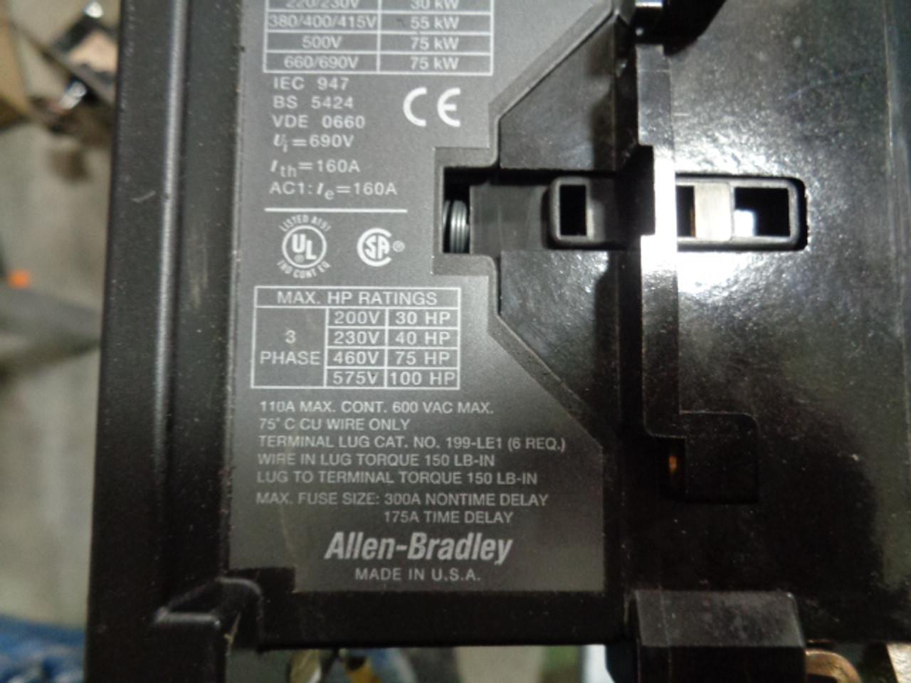 Allen Bradley 100-B110N*3 Contactor2