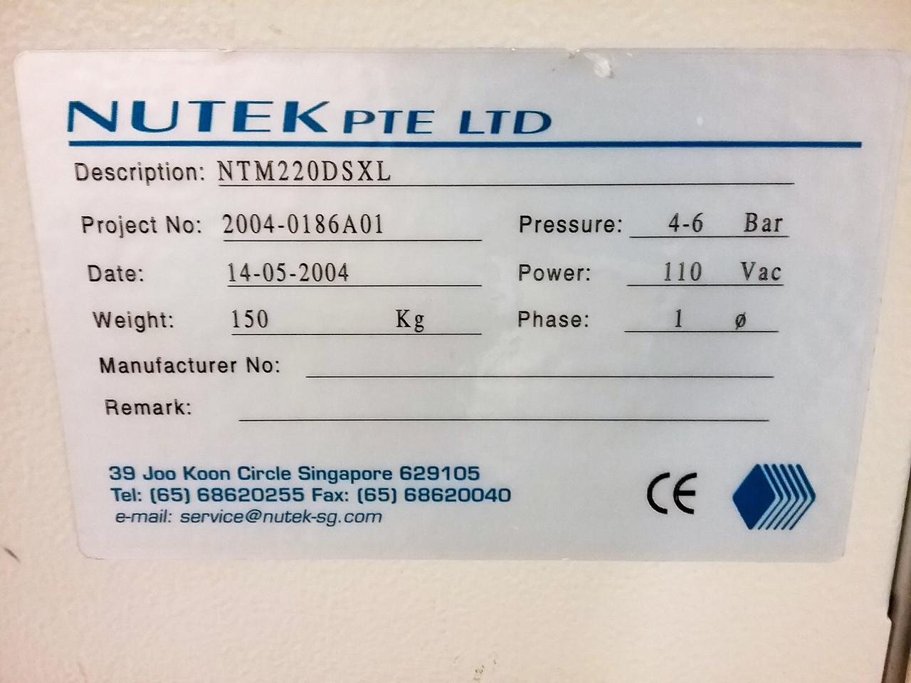 Nutek NTM220DSXL Bare Board Destacker (190808)