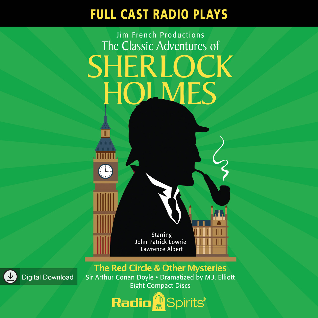 The Classic Adventures of Sherlock Holmes: The Red Circle & Other Mysteries (MP3 Download)