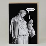 Statue 'Love You Mum' Card