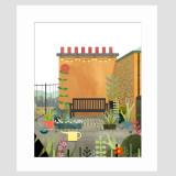 Camphill Gate Roof Garden Medium Print