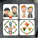 Christmas Movies Coasters (Gift set of four)