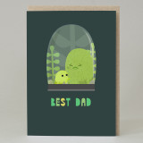 Cactus 'Best Dad' Card