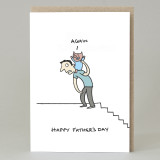 Piggyback 'Happy Father's Day' Card