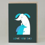 Sausage 'Love You Dad' Card