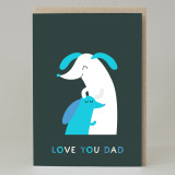 Sausage 'Love You Dad' Card