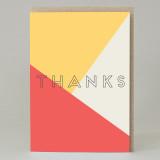 'Thanks' Text Card
