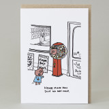 'Pig In A Sweet Machine' Card