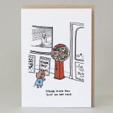 'Pig In A Sweet Machine' Card