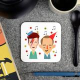 'Pa rum pa pum pum' Christmas Music Coasters