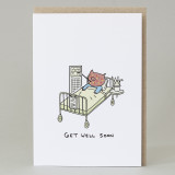 Pig 'Get Well Soon' Card