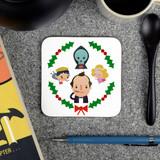 'Scrooged' Christmas Movie Coaster