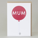 Balloon 'Mum' Card
