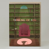 'Thinking Of You' Library Card