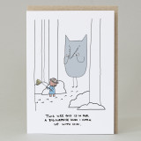 Pig 'Goes Hunting' Card