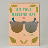 Wedding bears Groom and Groom Card