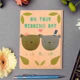 Wedding bears Bride and groom Card