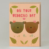 Wedding bears Bride and Bride Card