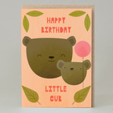 """Little Cub"" Pink Card"