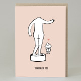 Statue 'Thinking Of You' Card