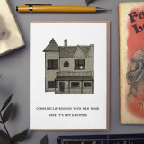 Haunted House 'New Home' Card