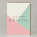 'Happy Birthday' Text Birthday Card PInk